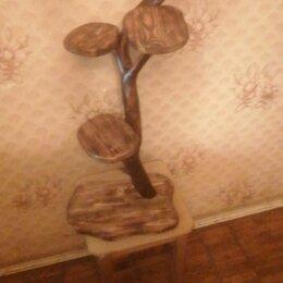 Горшки, подставки для цветов - Стойка для цветов. Подставка. Натуральное дерево. , 0