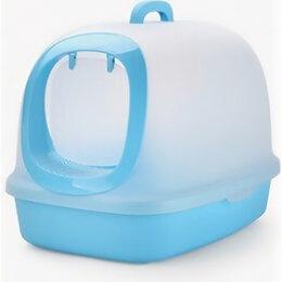 Биотуалеты - Туалет-бокс 62*46*46 голубой, 0