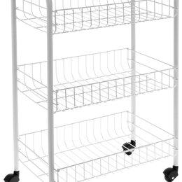 Стеллажи и этажерки - Трёхуровневая этажерка на колёсиках, 0