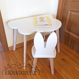 Столы и столики - Комплект - детский стул зайчик и стол облако, 0