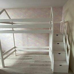 Кроватки - Детская кроватка из дерева из массива сосны, 0