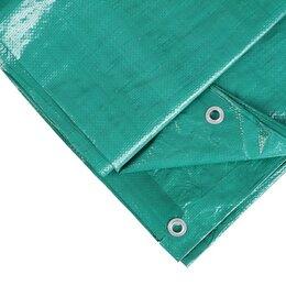 Тенты строительные - Тент защитный, 8 × 6 м, плотность 120 г/м², зелёный/серебристый, 0