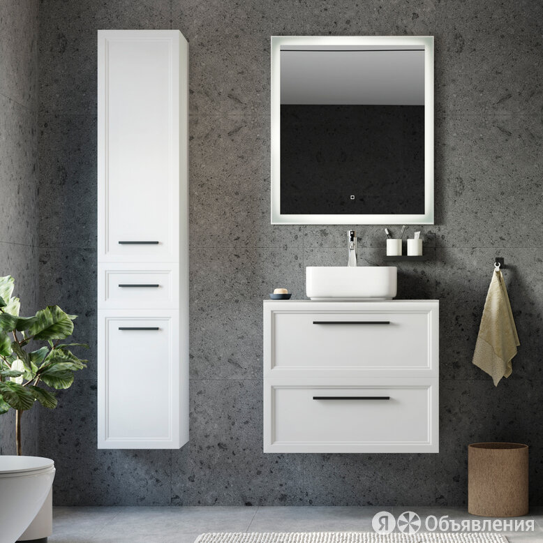 Мебель для ванной STWORKI Эстерсунд 75 белая матовая, монте тиберио по цене 46900₽ - Готовые строения, фото 0
