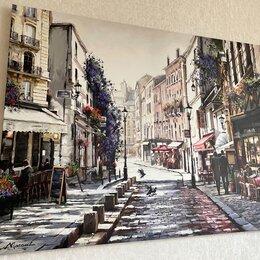 Картины, постеры, гобелены, панно - Картина на холсте «париж. коллаж» на стене, 0