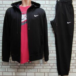 Спортивные костюмы - Спортивный костюм Найк черный с капюшоном, 0