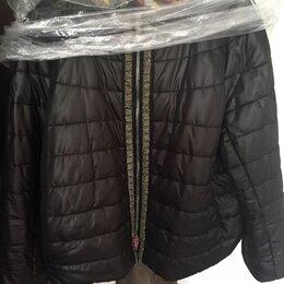 Куртки - Куртка женская укороченная димисезонная новая размер 52-54 черная, 0