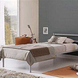 Кровати - Кровать для спальни ЛегкоМаркет Стоун серый, 0