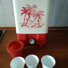 Туристическая посуда - Термос milton 10 литров Большой пластиковый термос с краником СССР, 0