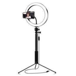 Осветительное оборудование - Кольцевая лампа со штативом (26 см) (H02), 0