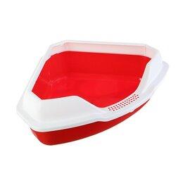 Туалеты и аксессуары  - Туалет треугольный 'Айша' с бортом 56 х 42 х 17 см, красный, 0