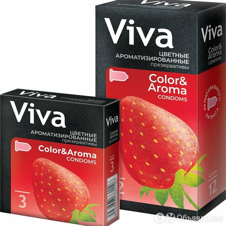 Презервативы ВИВА N3 цветные ароматизированные (Малайзия) по цене 56₽ - Презервативы, фото 0