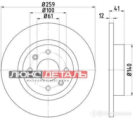 BEHR-HELLA 8DD355115271 Диск тормозной пер PRO  по цене 2075₽ - Тормозная система , фото 0