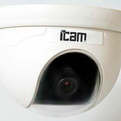 Камеры видеонаблюдения - Видеокамера цветная купольная iCAM iDom-550, 0