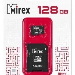 Карты памяти - Карта памяти microSDХC с адаптером MIREX  128GB (U, 0