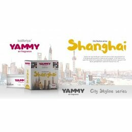 Ёмкости для хранения - Ароматизатор меловой сити «Yammy»  баночка «SHANGHAI» (1/40), 0