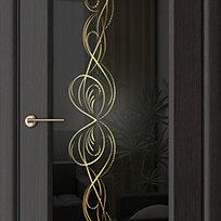 Межкомнатные двери - Дверь межкомнатная Мокко (экошпон), 0