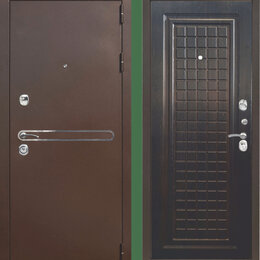 Входные двери - Дверь входная Тайгер Сотка Трио (антик медь/венге тиснёный), 0