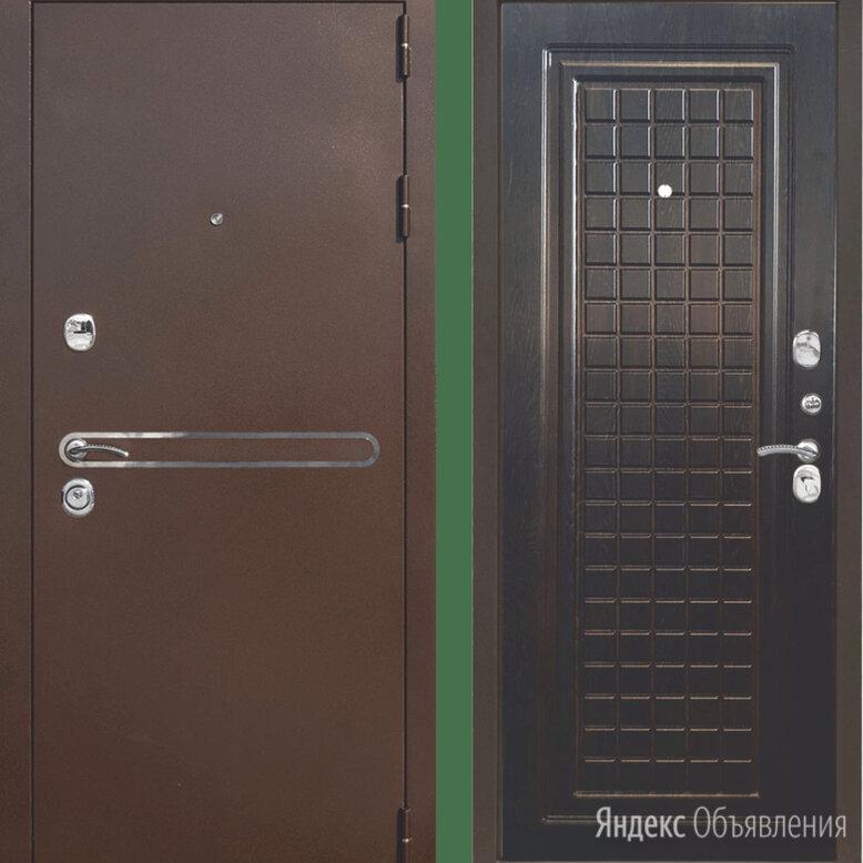 Дверь входная Тайгер Сотка Трио (антик медь/венге тиснёный) по цене не указана - Входные двери, фото 0