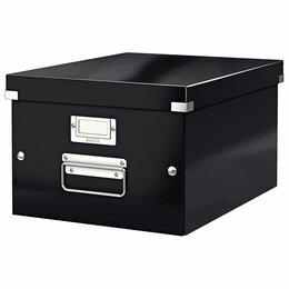 Расходные материалы - Короб архивный LEITZ «Click & Store» M, 200х280х370 мм, ламинированный карто, 0