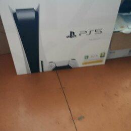 Игровые приставки - Sony Playstation 5 с дисководом новая, 0