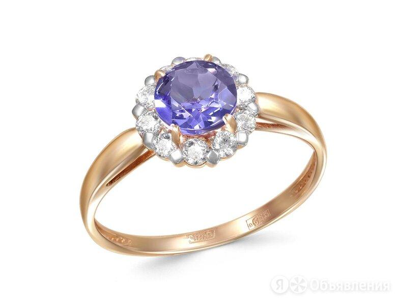 Кольцо с ситаллом и 10 фианитами из красного золота по цене 12296₽ - Комплекты, фото 0