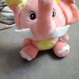 Мягкие игрушки -  Мягкая игрушка розовый слон, 0