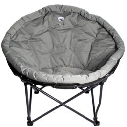 Походная мебель - Кресло складное кемпинговое круглое р.104*84*49 см, цвет серый, 0