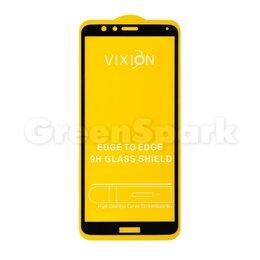 """Защитные пленки и стекла - Защитное стекло 6D для Huawei Honor 7X (5.9"""") (черный) (VIXION), 0"""