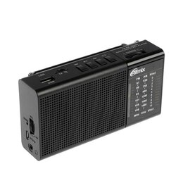 Радиоприемники - Радиоприёмник Ritmix RPR-155, FM/AM 87–108 МГц, MP3, USB, microSD, аккумулято..., 0