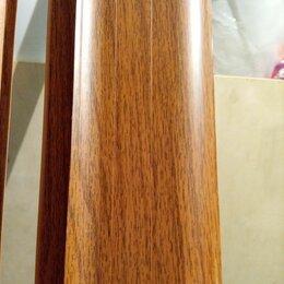 Плинтусы, пороги и комплектующие - Плинтус напольный цвет орех канадский 30 метров, 0