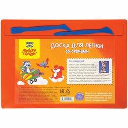 Ёлочные украшения - Набор д/лепки Мульти-Пульти, доска А4+2 стека, полистирол оранжевый, 0