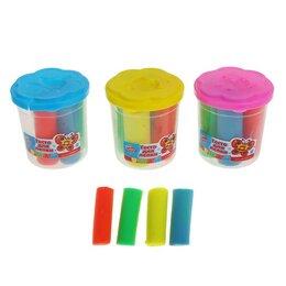 Лепка - Тесто для лепки 4 цвета, 140 грамм, цвета МИКС, 0
