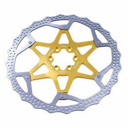 Рулевое управление - Ротор велосипедный A2Z ATD, 160мм, DOT-Floating, золотой, ATD-160-6, 0