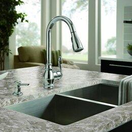 Мебель для кухни - Столешница с интегрированной мойкой  из искусственного камня , 0