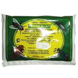 Средства от насекомых - Ника-1 порошок от тараканов 100гр, 0
