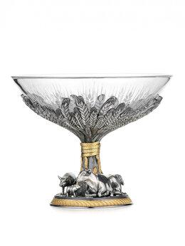 Декоративная посуда - Серебряная конфетница «Урожай», 0