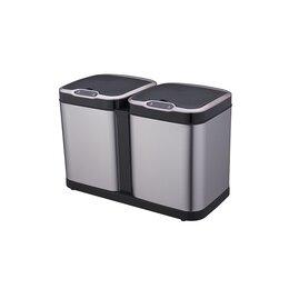 Мусорные ведра и баки - Ведро для раздельного сбора мусора, сенсорное, 2 емкости, Foodatlas  JAH-8520..., 0