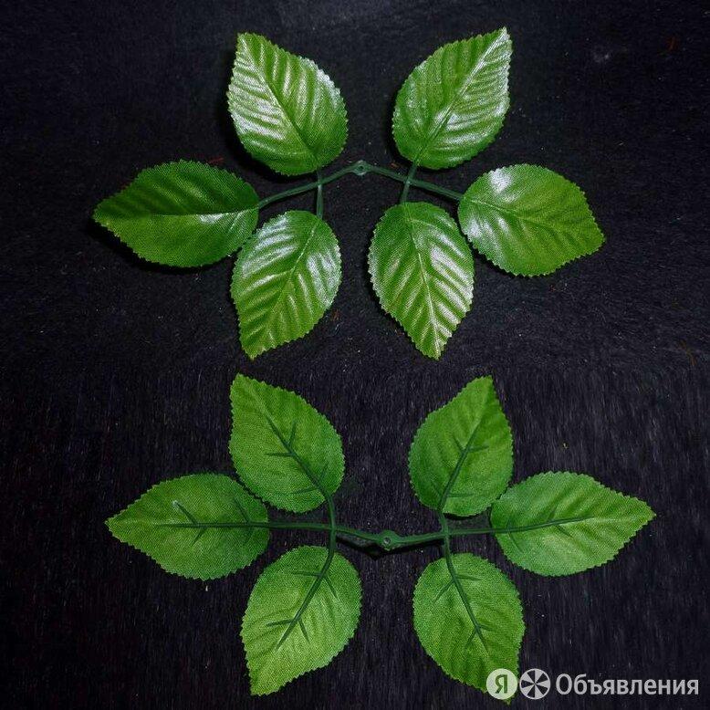 Лист для розы шестилистик люкс 19см (830 шт/кг) по цене 4₽ - Ингредиенты для приготовления напитков, фото 0