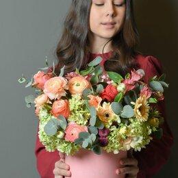 Цветы, букеты, композиции - Композиция «Румяная заря» - М (30см), 0
