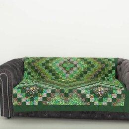 """Одеяла - Покрывало """"Зелёное"""" 170х220 см. печворк, авторское, 0"""