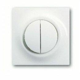 Электроустановочные изделия - Выключатель двухклавишный с подсветкой ABB Impuls, 0