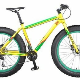 "Велосипеды - Велосипед INOBIKE Traveler Son Jamayca 26"", 17"", фэтбайк, желтый/зеленый, 0"