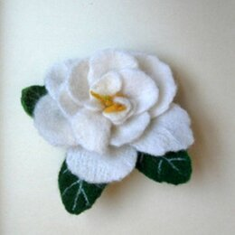Броши - Роза белая. Брошь. Валяние., 0