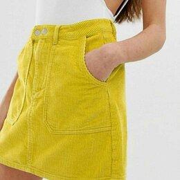 Юбки - Вельветовая юбка короткая, 0