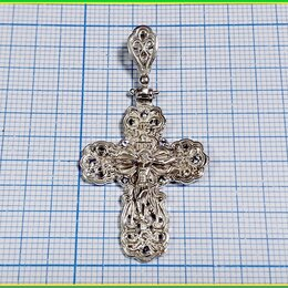 Кулоны и подвески - КРЕСТ ТЕЛЬНИК крестик нательный 25*47мм серебро 925 4,9гр., 0