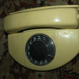 Проводные телефоны - Аппарат телефонный дисковый б/у, 0