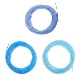 Расходные материалы для 3D печати - Пластик PCL для 3D ручки, длина: 5 м, цвета синего МИКС, 0