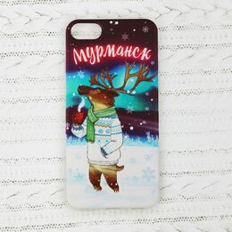 Вещи - Чехол для телефона iPhone 7 «Мурманск. Олень», 0