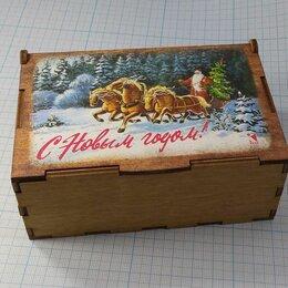 Ёлочные украшения - Флажки елочные в ящике Елочное украшение Зарубин рисунок дерево 10 шт, 0