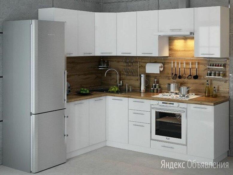 """Кухня """"Ксения"""" 3,8м угловая, белый глянец по цене 36500₽ - Мебель для кухни, фото 0"""